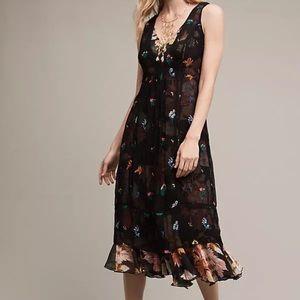 Anthropologie Floreat Garden Stroll Midi Dress